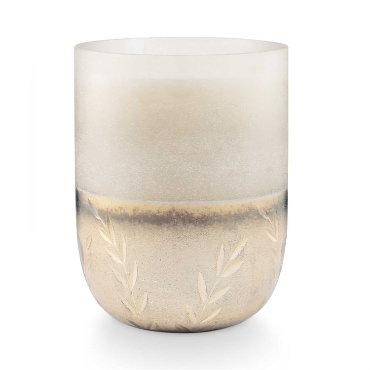 Balsam & Cedar Large Frosted Glass Candle