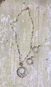 Snakeskin Bead Necklace Set