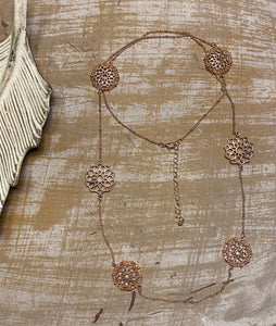 Rose Gold Filigree Detailed Necklace