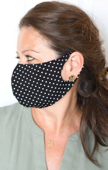 Mini Polka Dot Double Layer Mask