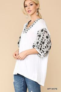 Peplum sleeve top