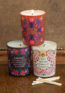 Will Not Stress Set of 3 Votives