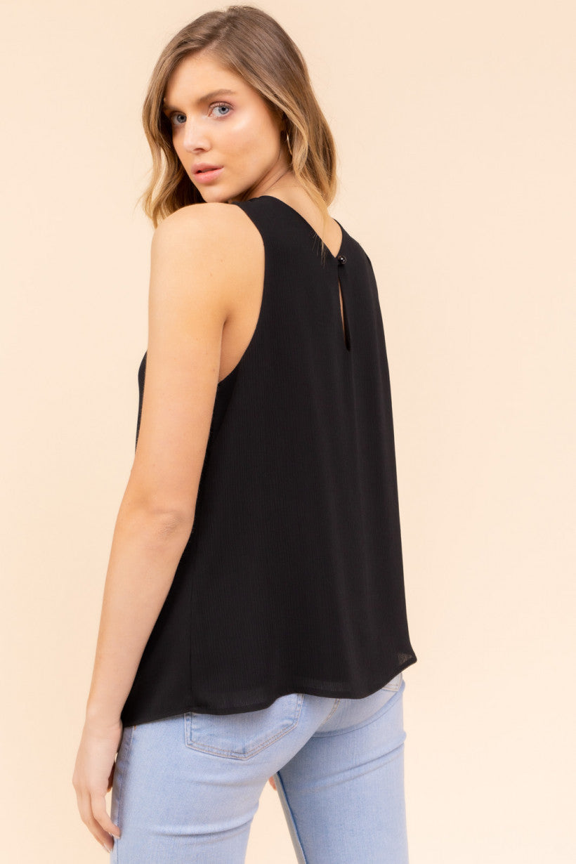 Sleeveless Cross Halter Neck Top
