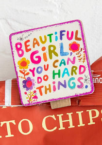Beautiful Girl Chirp Magnet Clip
