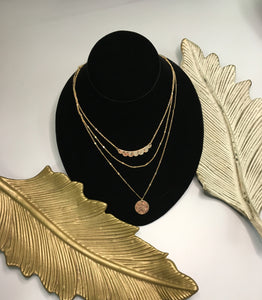 Layered 3 Row Necklace
