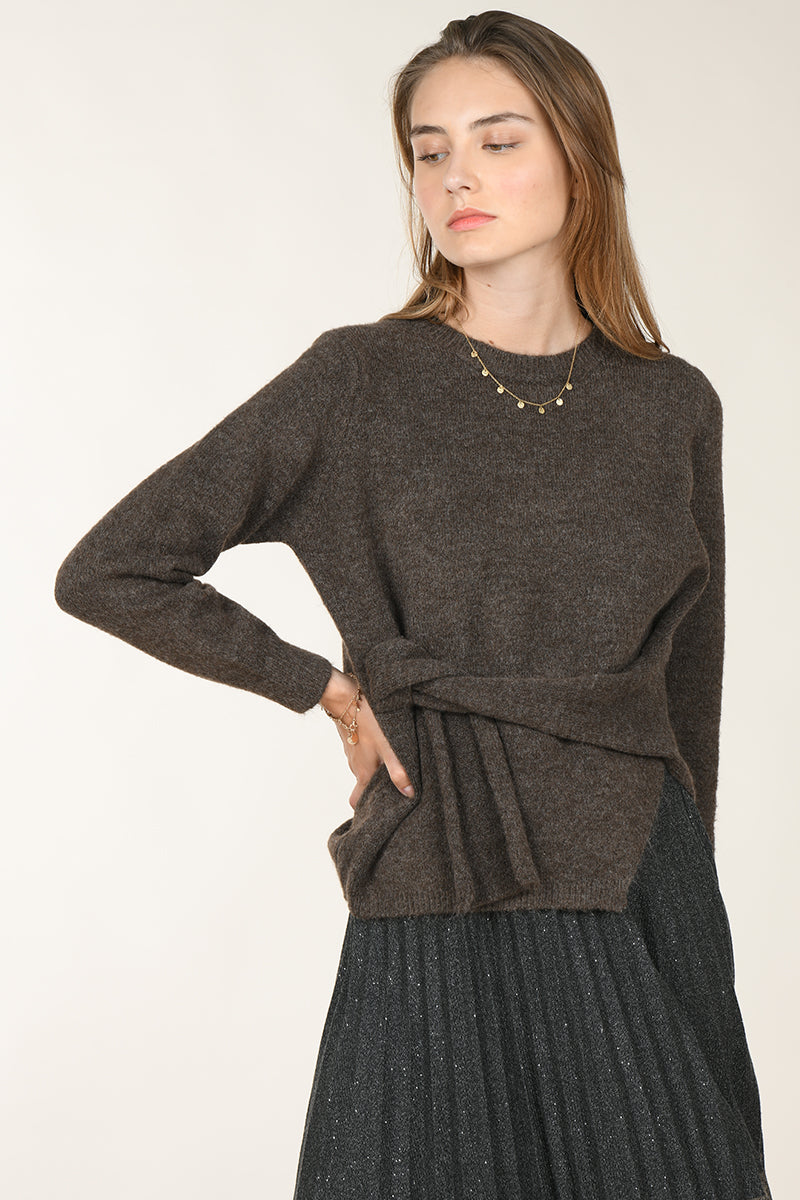Side Twist Tie Sweater