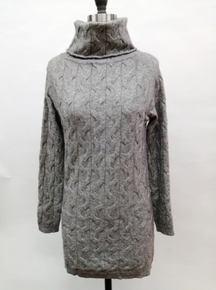 Cable Knit Cowl Neck Sweater Tunic