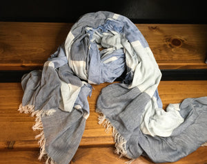 Jude Blue Chambray Scarf