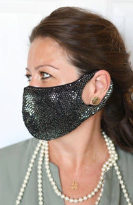Silver Sequins Reversible Fashion Mask
