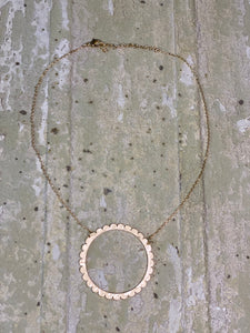 Scalloped Circle Necklace