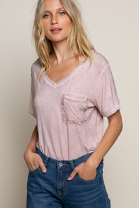 Lace Pocket Tee