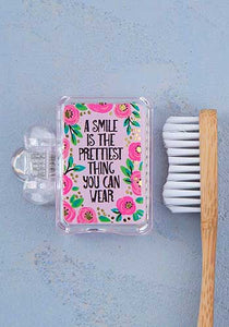 Smile is the Prettiest Toothbrush Cover