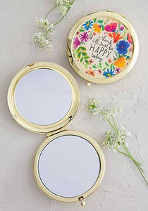 Be Happy Today Compact Mirror