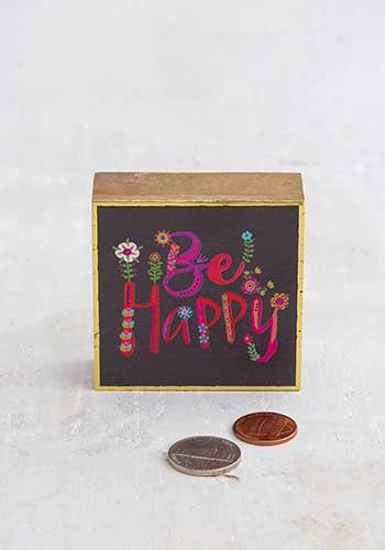 Be Happy Tiny Block Keepsake