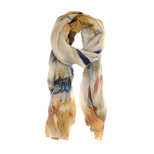 Blurred Ikat Scarf