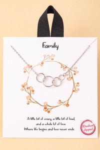 18k Family Hoop Link Charms Necklace