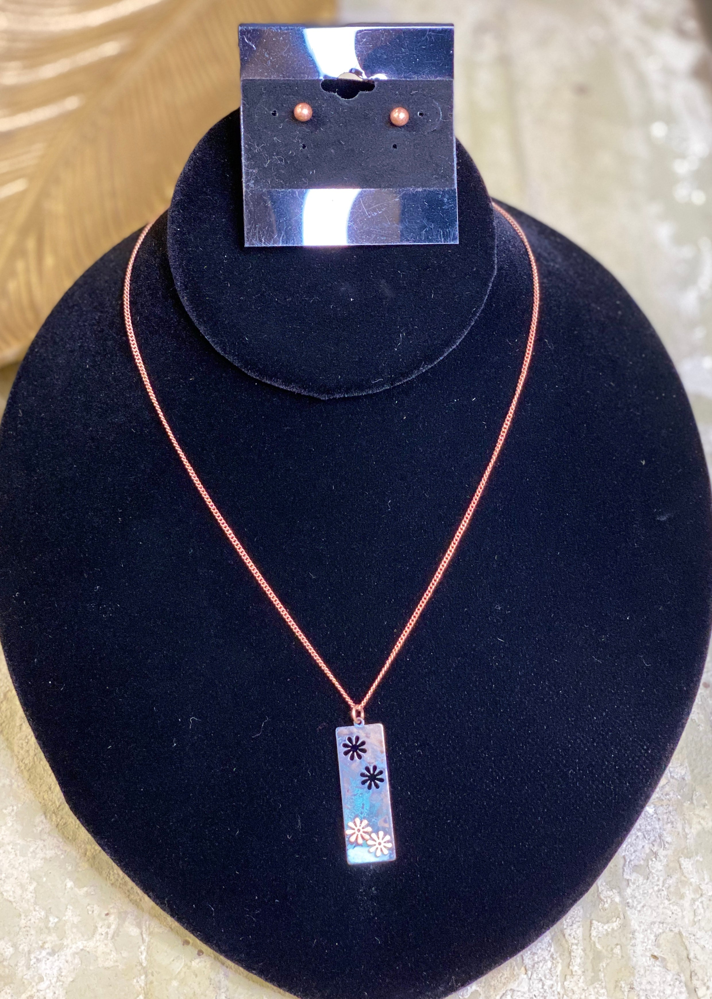 Copper & Patina Necklace Set
