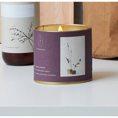 Cypress Lavender Natural Tin Candle