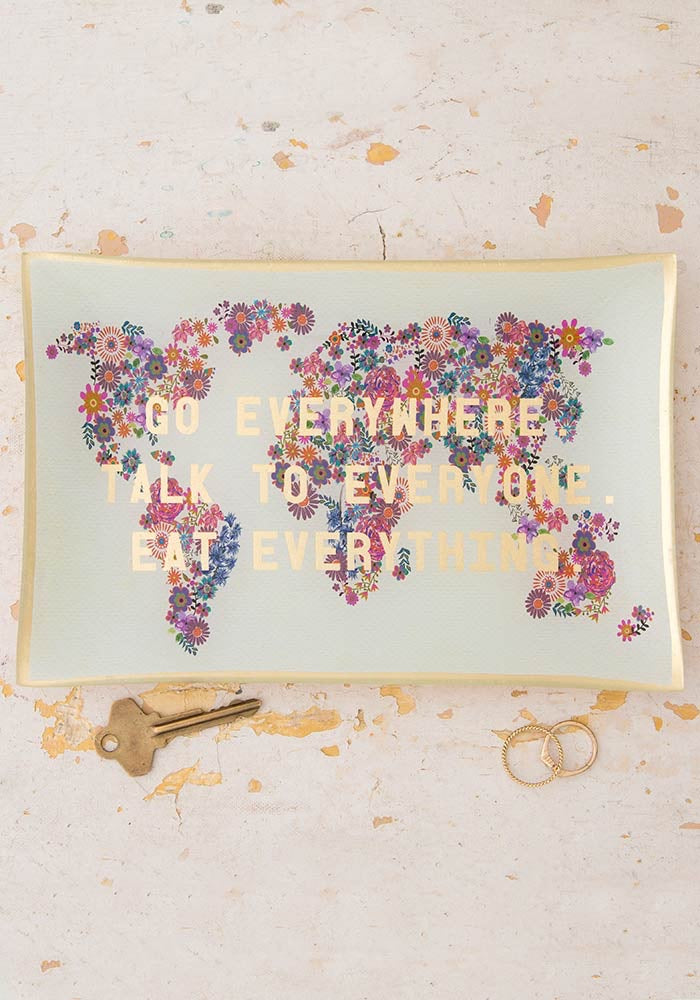 Go Everywhere Glass Keepsake
