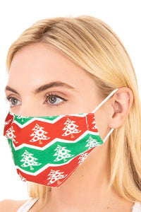 Christmas Tree Adult Face Mask