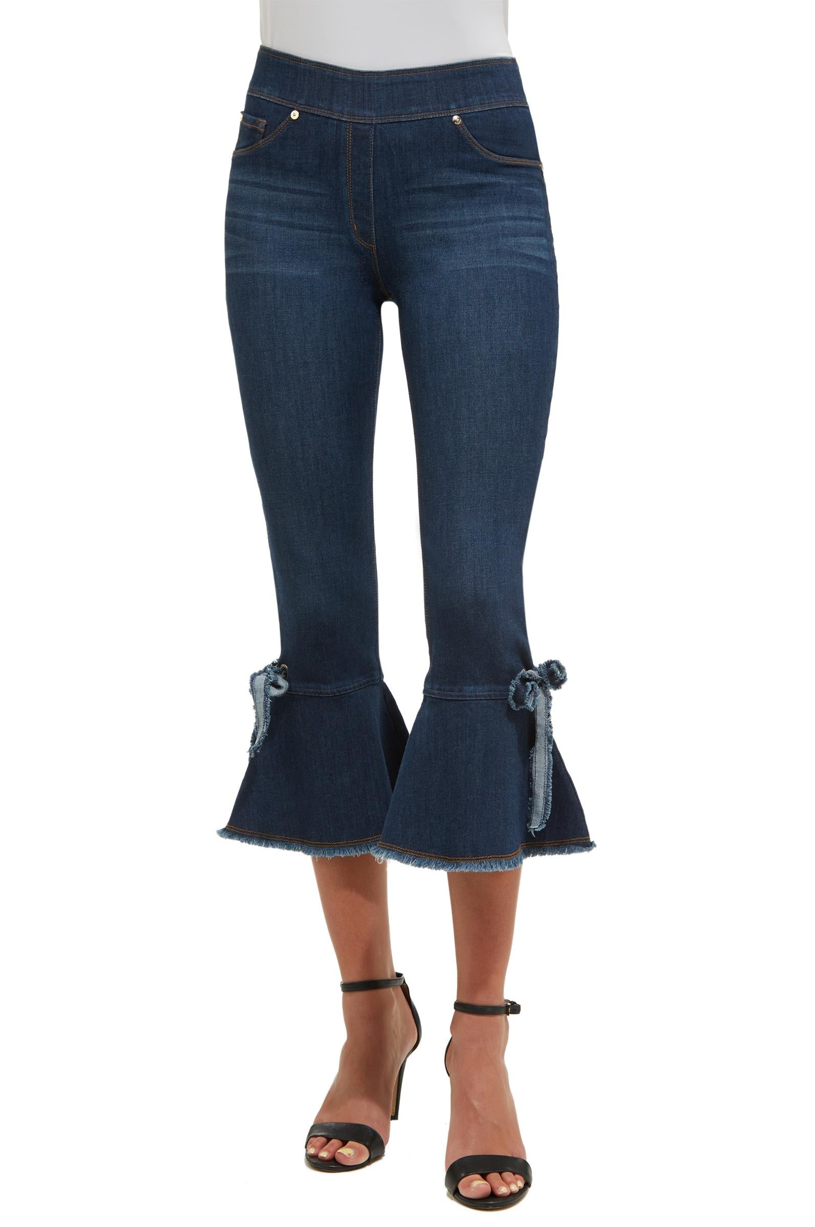 Luxe denim cropped jeans