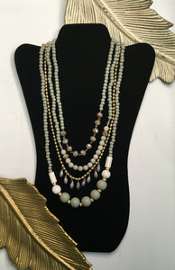 Natural Multi Layer Bead Necklace