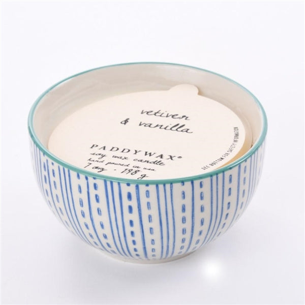 Vetiver & Vanilla Boheme 7 Oz Hand Painted Bowl