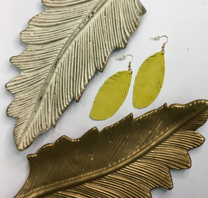 Lamb Skin Feather Earrings