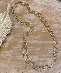 Multi Size Gold Link Chain Necklace