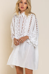 Woven Cotton Lace Dress