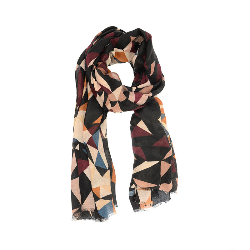 Black Kaleidoscope Scarf