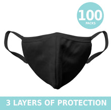Load image into Gallery viewer, Cloth Face masks 3 layers of protection antibacterial washable reusable handmade with love