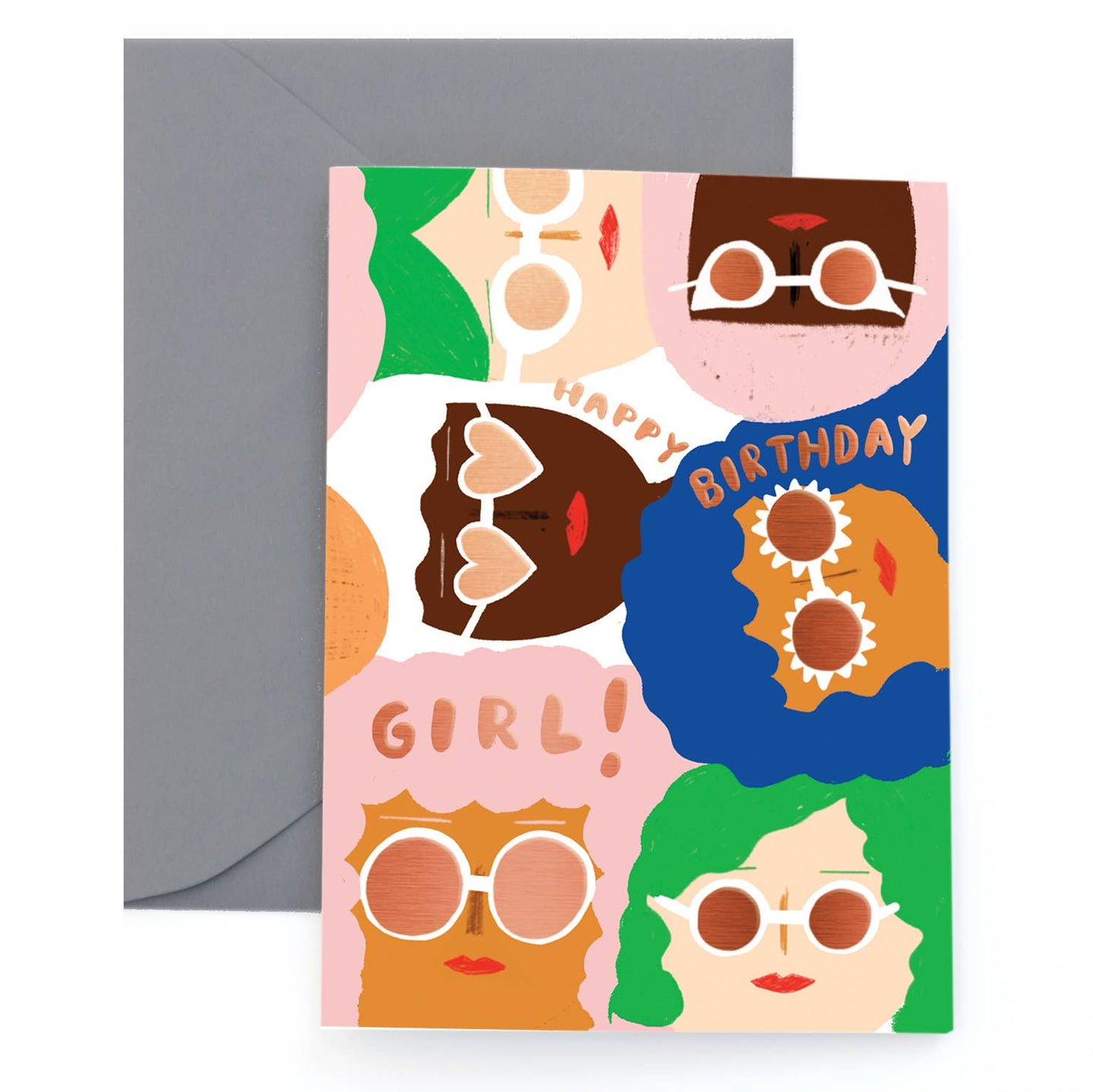 Sunny Women Foil Greeting Card