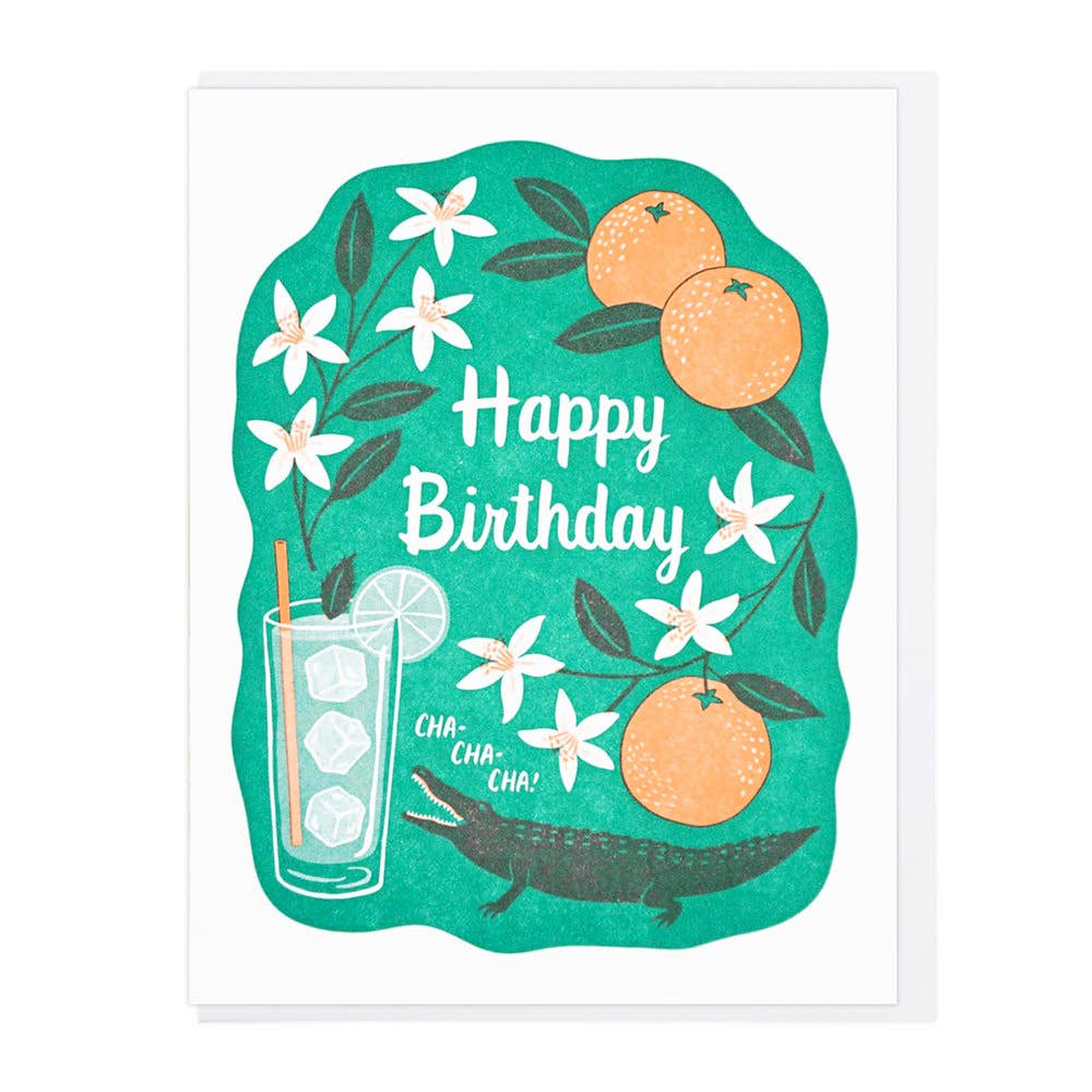 Birthday Cha Cha Greeting Card