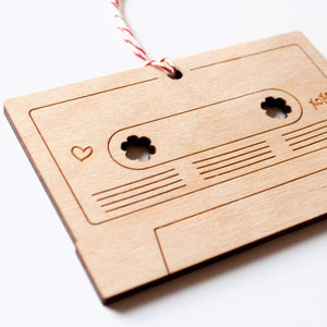 Mix Tape Laser-Cut Ornament