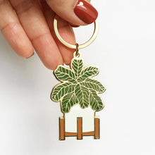 Load image into Gallery viewer, Fiddle Leaf Fig Keychain