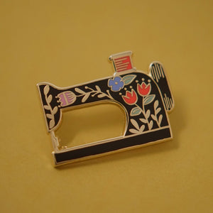 Sewing Machine Enamel Pin