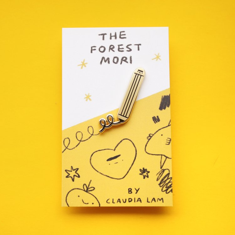 Scribbling Pencil Enamel Pin