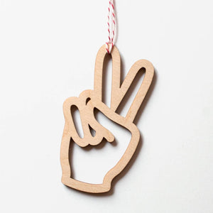 Peace Laser-Cut Ornament