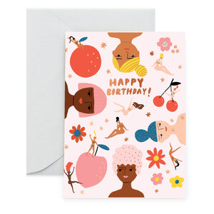 Fruity Nudes Foil Greeting Card