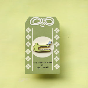 Groggy Croc Mood Enamel Pin