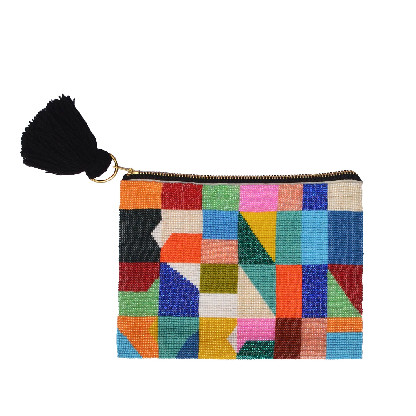 Abstract Beaded Pouch