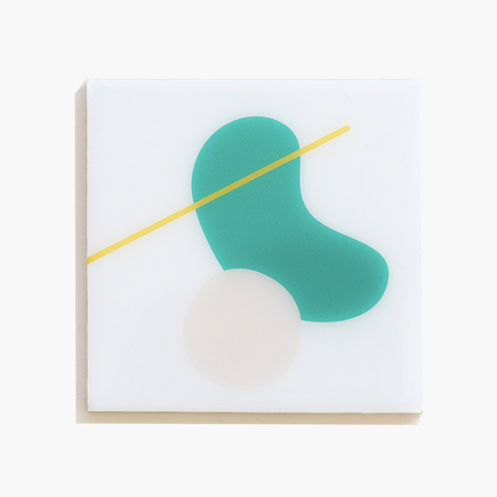 Abstract Resin Coaster, Set of 4 | Green