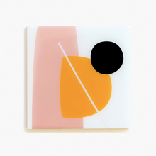 Load image into Gallery viewer, Abstract Resin Coasters | Orange