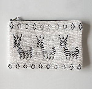 Handwoven Animal Zipper Clutch