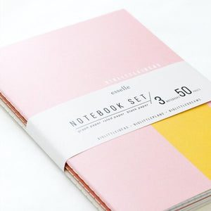 Big Little Softcover Notebook, set of 3