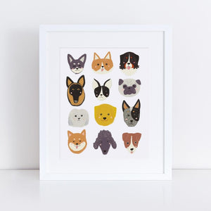 Cute Dogs Giclee Art Print