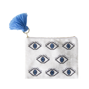 Eyes All Over Beaded Pouch