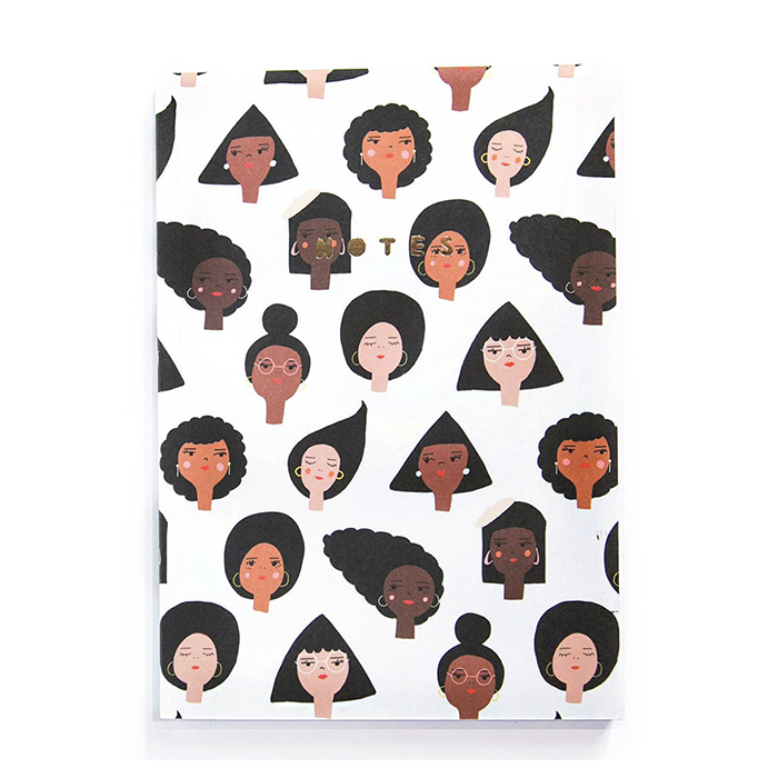 Geometric Girls Notebook