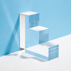 Acrylic Stair Step Bookends